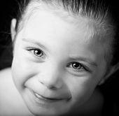 Beautiful Cloe Up Portrait Of Little Girl