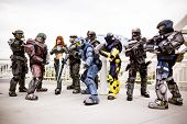 Cosplayers de Halo en el Comic Con 2012