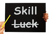 Skill Word On Board Shows Expertise Not Luck