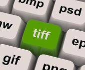 Tiff Key Shows Image Format For Tif Pictures