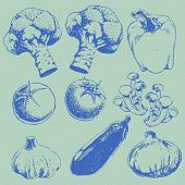 Retro Vegetables Set