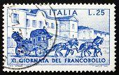 Postage stamp Italy 1969 Sondrio-Tirano Stagecoach, 1903