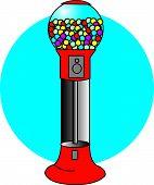 foto of gumballs  - Gumball Machine Clip Art in Cartoon Style - JPG