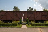 Memorial Wagon Museum Near Station Skrunda, Latvia