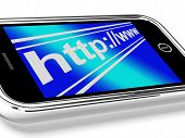 Http Address Shows Online Mobile Websites Or Internet