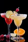 Orange And Raspberry Margaritas  - Most Popular Cocktails Series