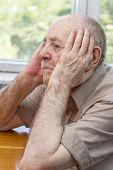 Senior Man Thinking