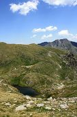 Goat lake in Fagaras mountains