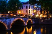 Night time in Amsterdam