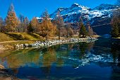image of engadine  - Autumn reflections on the lake Silvaplana - JPG