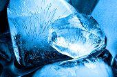 Blue ice texture