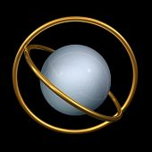 Metal Sphere And Gold Rings