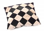 Throw Pillow With A Checkerboard Texture