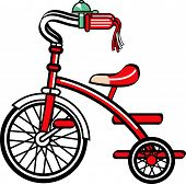 Tricycle or Trike Retro Vintage Clip Art