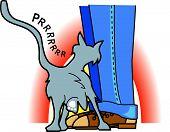Loving Cat Clip Art