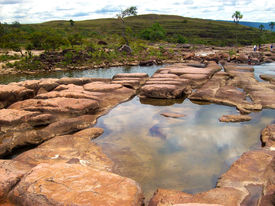 picture of canaima  - Beautiful scenery in one of the oldest geological formation of the planet. Canaima-Venezuela ** Note: Slight graininess, best at smaller sizes - JPG