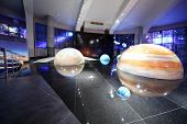 MOSCOW - JUNE 15: Models of solar system in Planetarium, on June 15, 2012 in Moscow, Russia. Moscow