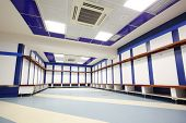 MADRID - MAR 8: Locker room in Santiago Bernabeu Stadium - arena of soccer club Real Madrid, Mar 8 2