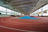 MOSCOW - MAY 13: Indoor athletics arena at stadium named Brothers Znamensky, May 13, 2012, Moscow, R