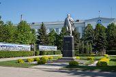 SAMARA - MAY 4: The area in front CJSC Alcoa SMZ on May 4, 2012 in Samara, Russia. CJSC Alcoa SMZ pr