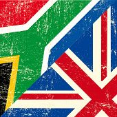 English and south african grunge Flag. this flag represents the relationship  between UK union and S