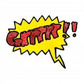 stock photo of growl  - cartoon comic book growl - JPG