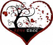 Love Tree Vector Illustration Texture