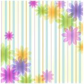 Stripe Floral Background