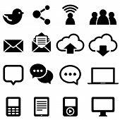 Ícones de mídias sociais