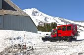 Snow Plows At Timberline Lodge Oregon.