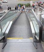 An outdoor escalator