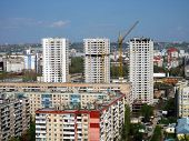SARATOV, RUSSIA - MAY 2: View of building a residential complex