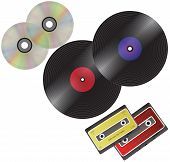 foto of lp  - LP Cassette Tapes and disk - JPG