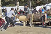 Lumberjack Two Man Bucksaw Competition