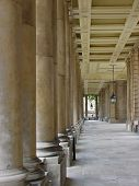 Columns Of The Royal Naval College In Greenwich, London, Uk
