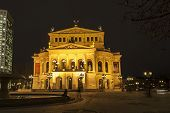old Oper At Night  In Frankfurt