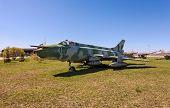 Togliatti, Russia - May 2: Russian Military Jet Fighter Plane Sukhoy Su-17 At The Exhibition In The