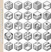 conjunto de cubo 3D