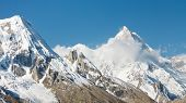 stock photo of karakoram  - Mount Masherbrum  - JPG