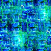 abstract vintage blue, green avant-garde, watercolor seamless te