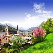 impressionante fronteira de alemão-austríaco de paisagens - Berchtesgaden, Alpen