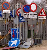 Storage Of Traffic Signs