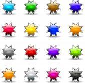 Colored Shiny Stars