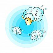 Counting cheerful cloud sheep for good sleep