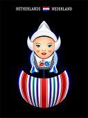 Matryoshkas of the World: dutch girl in Volendam dress
