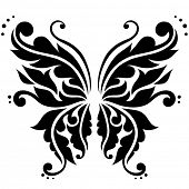 Ornamental butterfly. Vector illustration.