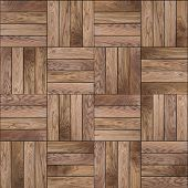 Wood Parquet Floor. Seamless Texture.