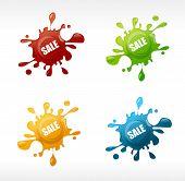 Vector colored blots