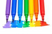 Color del arco iris sentía plumas