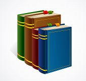 Books shelf icon. Vector Illustration